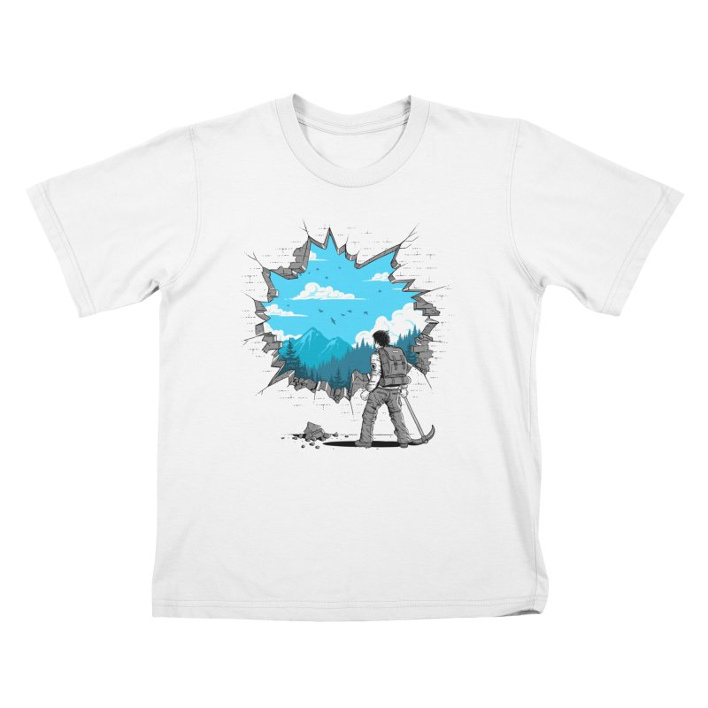 Breakthrough (to the other side) 2 Kids T-Shirt by Gamma-Ray Designs