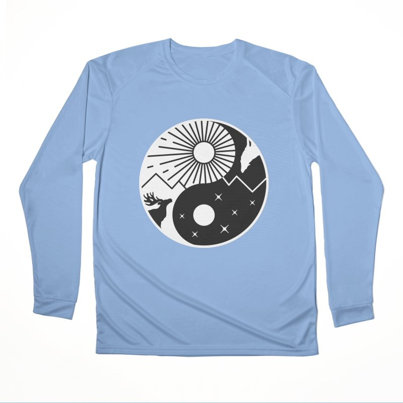 Balance (Black) Men's Longsleeve T-Shirt by Gamma-Ray Designs