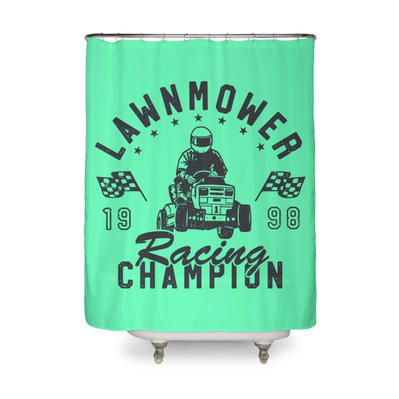 Lawnmower Racing Champion Home Shower Curtain by Gamma-Ray Designs