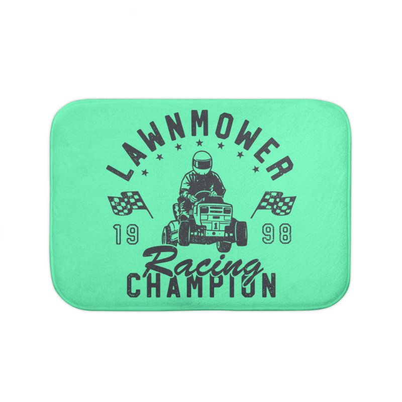 Lawnmower Racing Champion Home Bath Mat by Gamma-Ray Designs