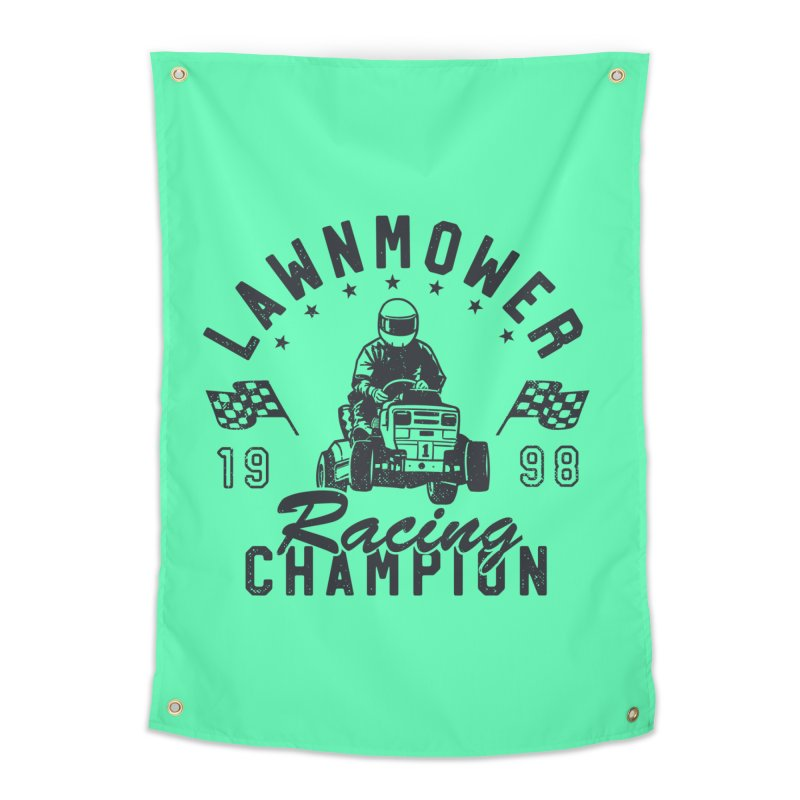Lawnmower Racing Champion Home Tapestry by Gamma-Ray Designs