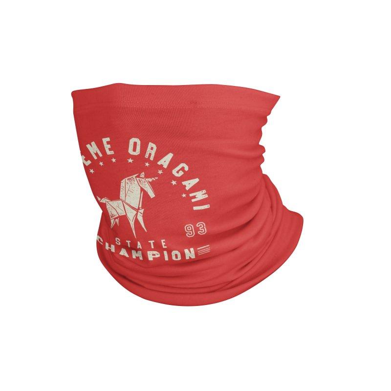 Origami Champion Accessories Neck Gaiter by Gamma-Ray Designs