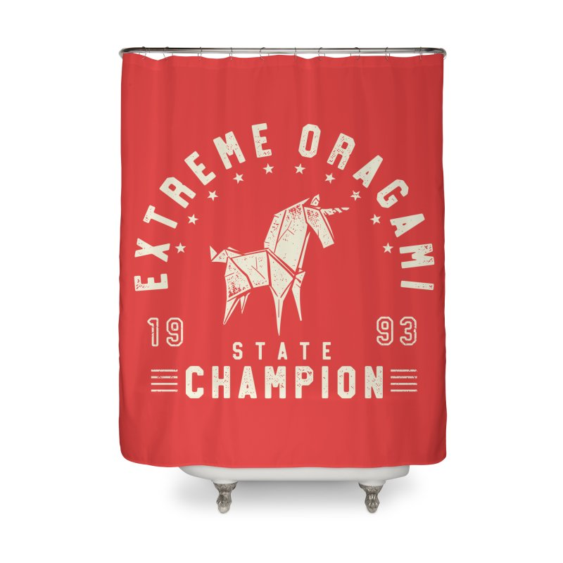 Origami Champion Home Shower Curtain by Gamma-Ray Designs