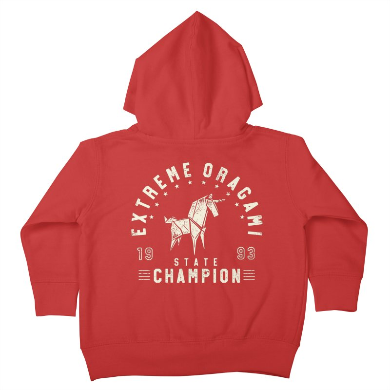 Origami Champion Kids Toddler Zip-Up Hoody by Gamma-Ray Designs