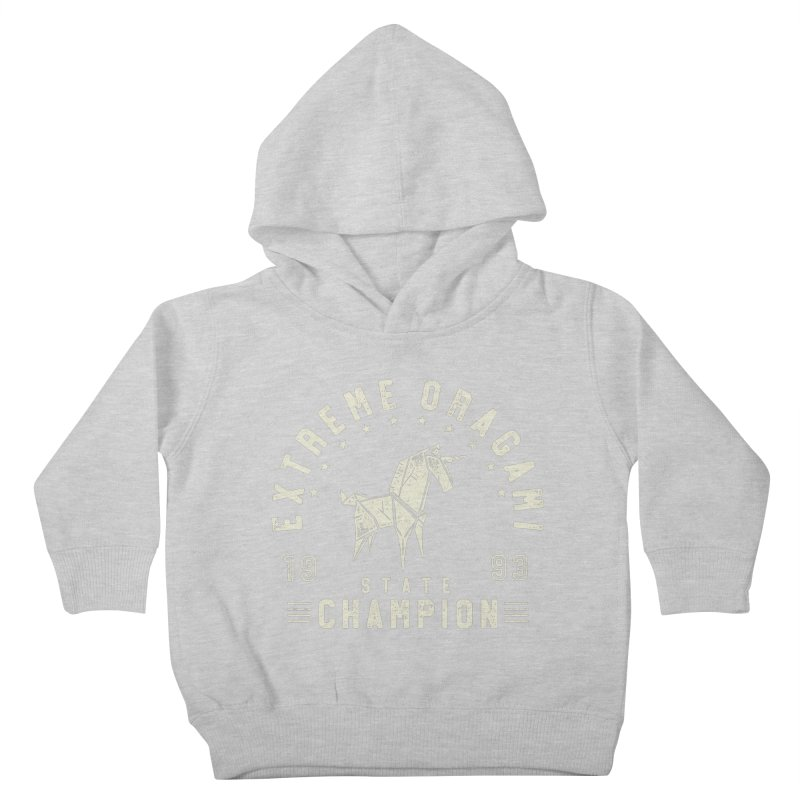 Origami Champion Kids Toddler Pullover Hoody by Gamma-Ray Designs