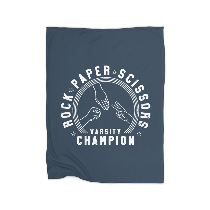 Rock, paper, Scissors Champion Home Blanket by Gamma-Ray Designs