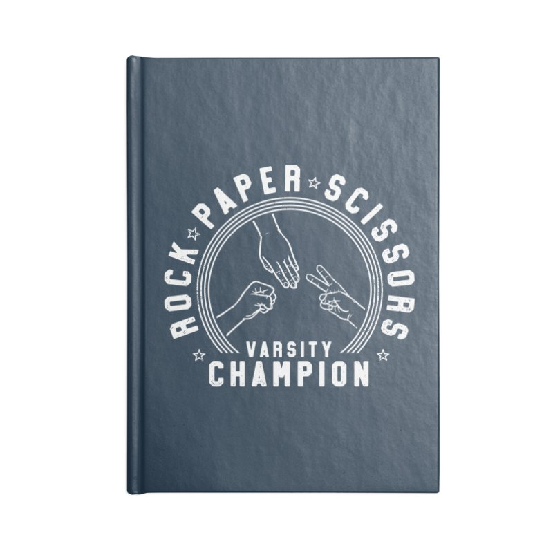 Rock, paper, Scissors Champion Accessories Notebook by Gamma-Ray Designs