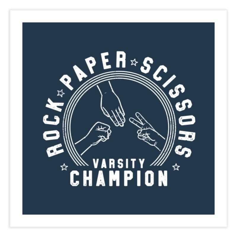 Rock, paper, Scissors Champion Home Fine Art Print by Gamma-Ray Designs