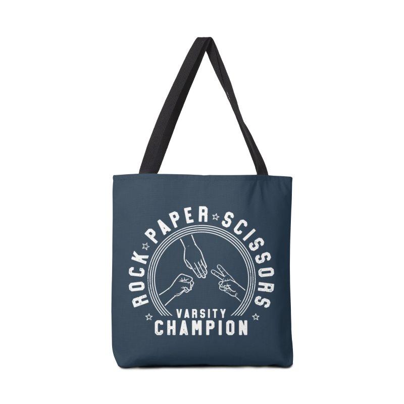 Rock, paper, Scissors Champion Accessories Bag by Gamma-Ray Designs