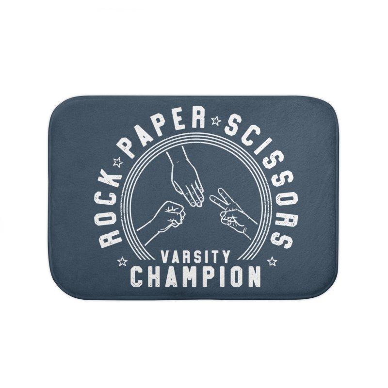 Rock, paper, Scissors Champion Home Bath Mat by Gamma-Ray Designs
