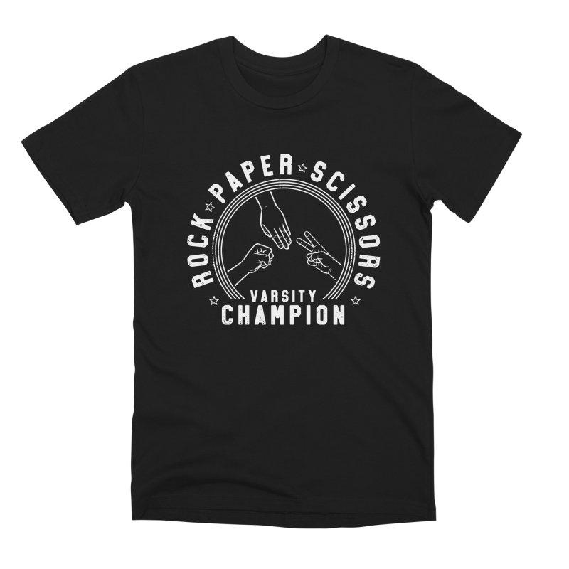 Rock, paper, Scissors Champion Men's T-Shirt by Gamma-Ray Designs