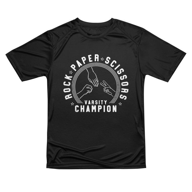 Rock, paper, Scissors Champion Women's T-Shirt by Gamma-Ray Designs