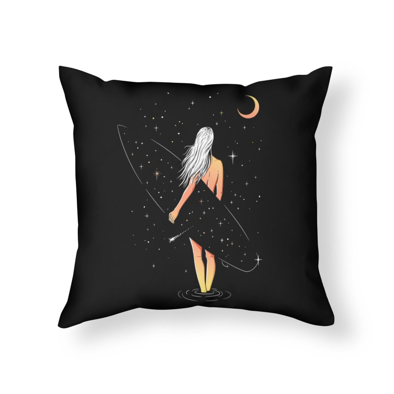 Soul Surfer Home Throw Pillow by Gamma-Ray Designs