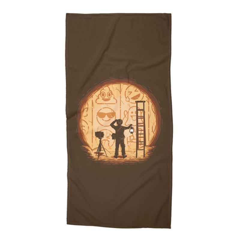 Emoglyphics Accessories Beach Towel by Gamma-Ray Designs