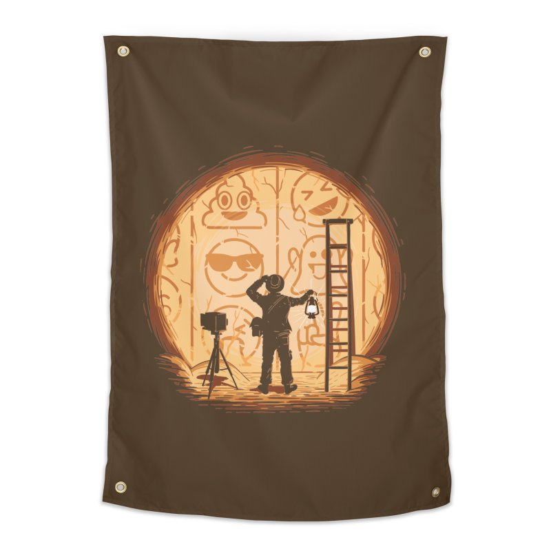 Emoglyphics Home Tapestry by Gamma-Ray Designs