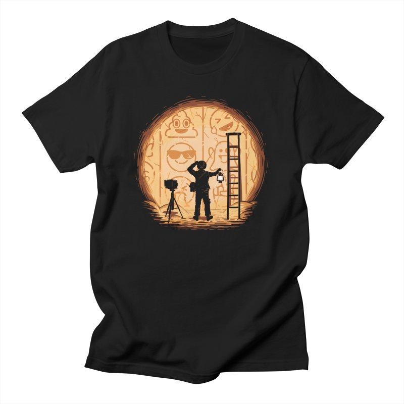 Emoglyphics Men's T-Shirt by Gamma-Ray Designs