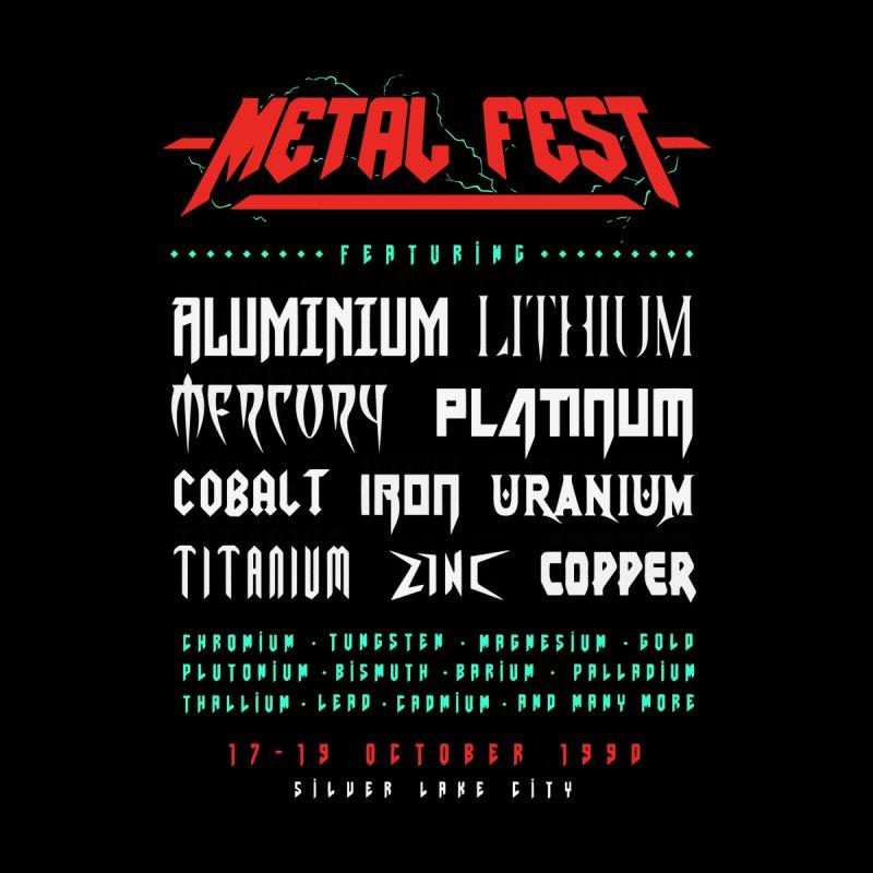 Metal Fest (Back Print) Men's T-Shirt by Gamma-Ray Designs