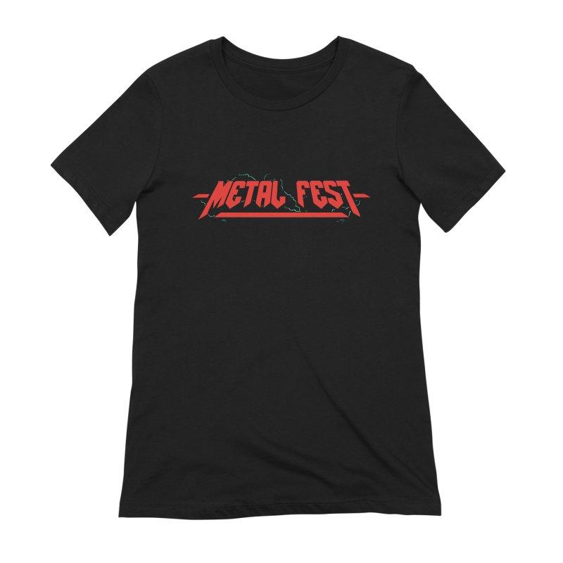 Metal Fest (Back Print) Women's T-Shirt by Gamma-Ray Designs