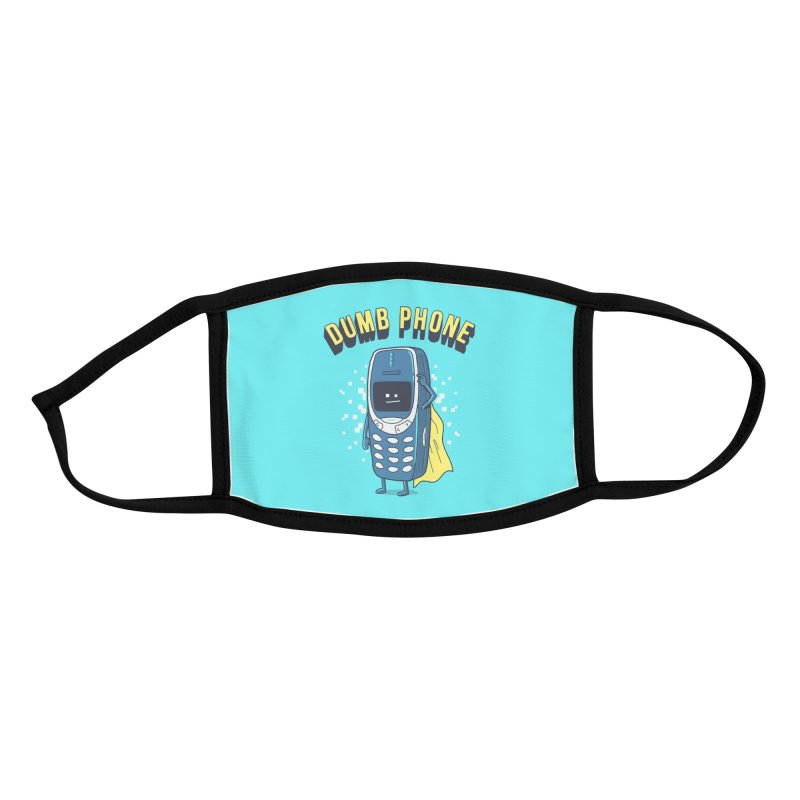 Dumb Phone Accessories Face Mask by Gamma-Ray Designs