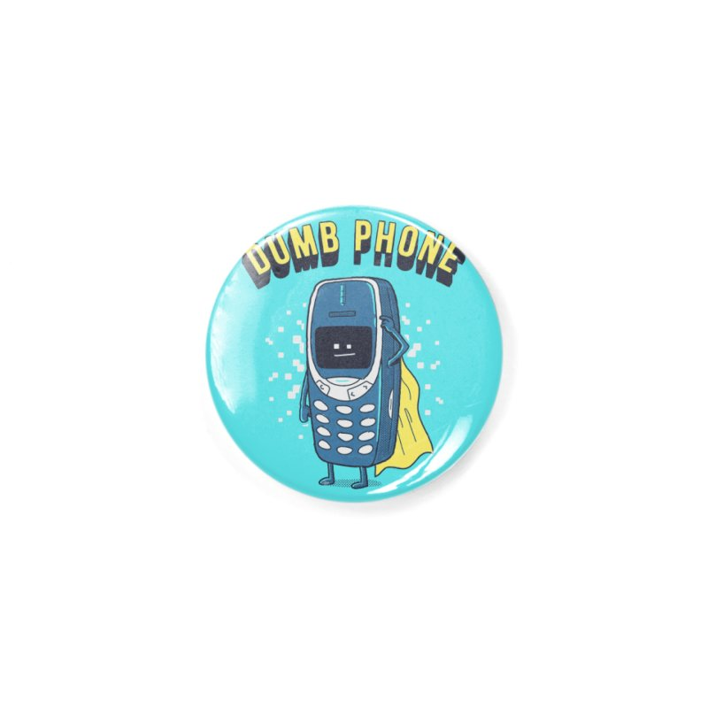 Dumb Phone Accessories Button by Gamma-Ray Designs