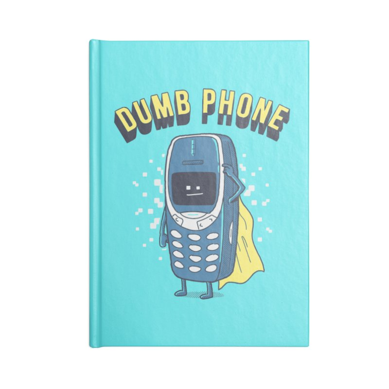 Dumb Phone Accessories Notebook by Gamma-Ray Designs