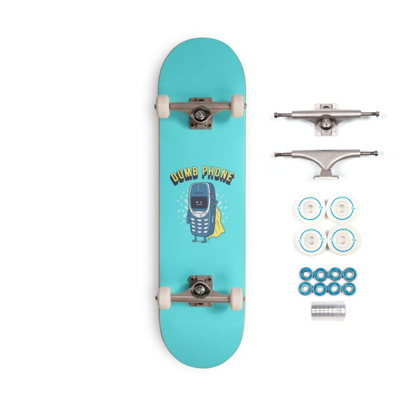 Dumb Phone Accessories Skateboard by Gamma-Ray Designs