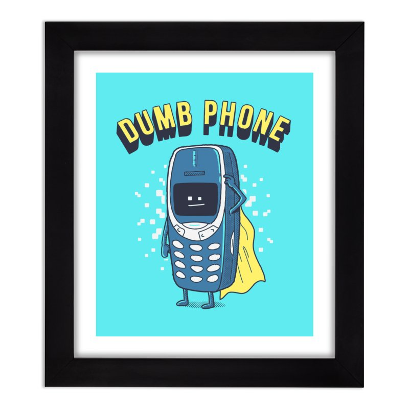 Dumb Phone Home Framed Fine Art Print by Gamma-Ray Designs