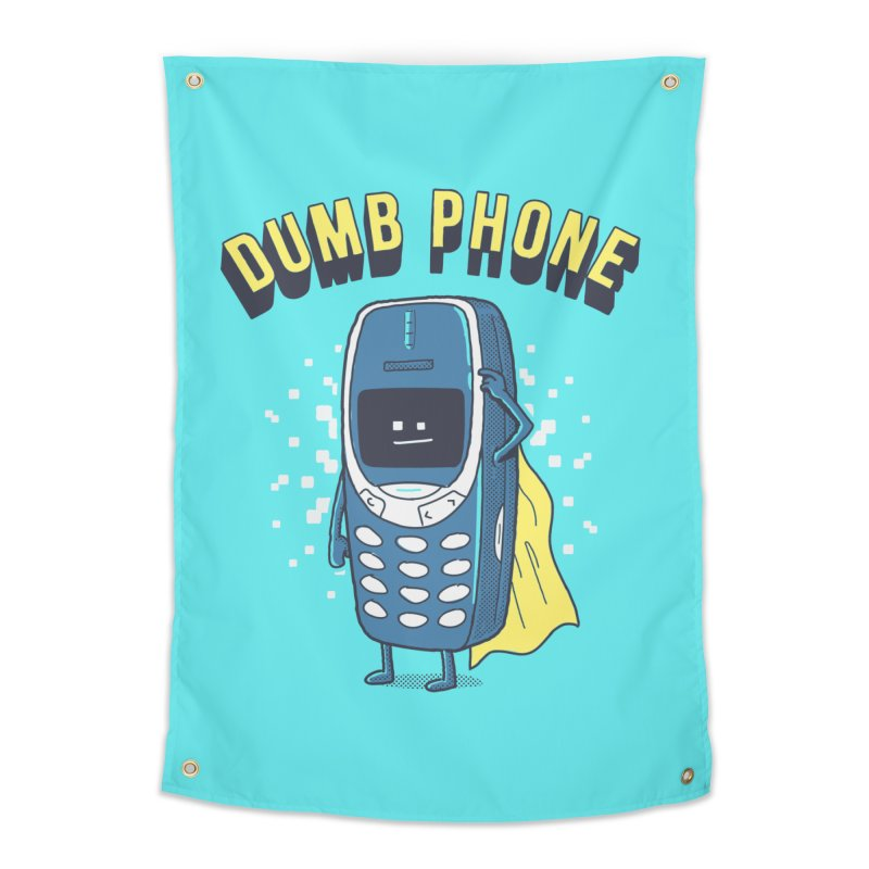 Dumb Phone Home Tapestry by Gamma-Ray Designs