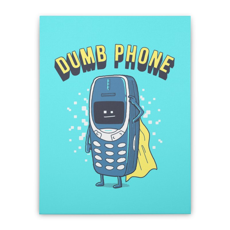 Dumb Phone Home Stretched Canvas by Gamma-Ray Designs
