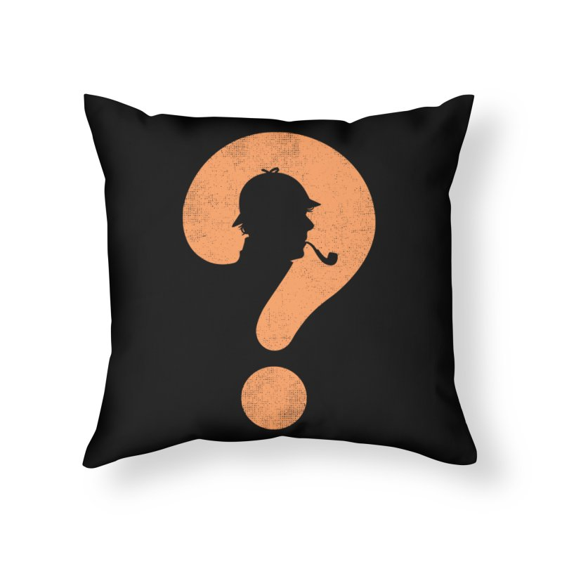 Mystery Home Throw Pillow by Gamma-Ray Designs
