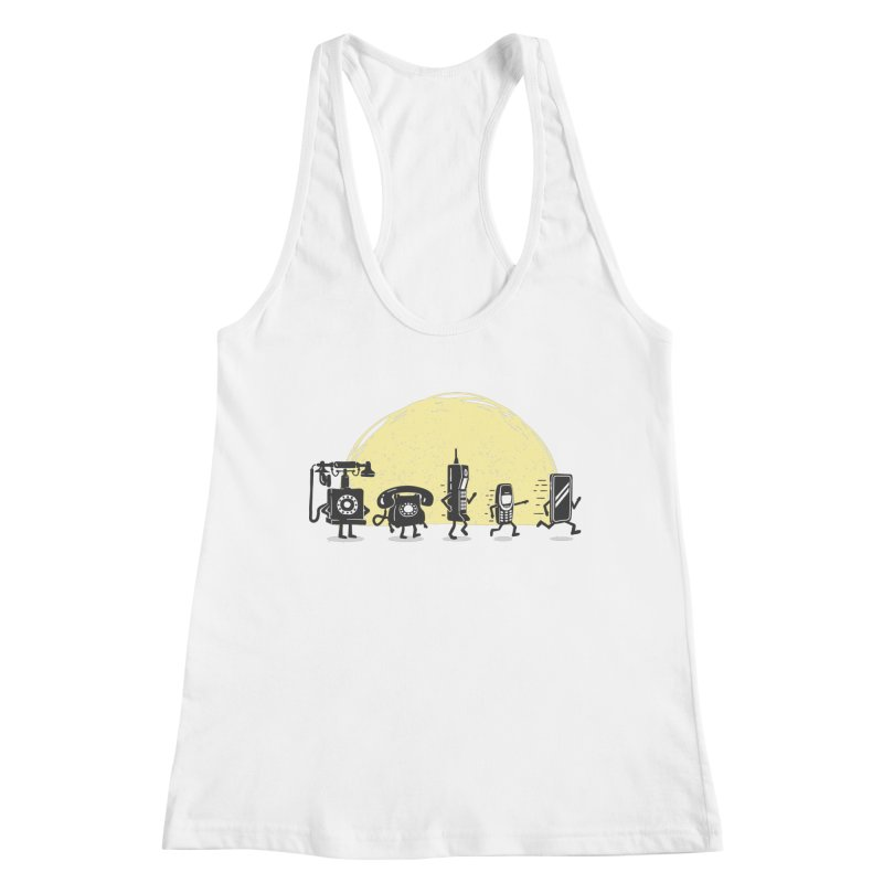The evolution of the mobile phone Women's Tank by Gamma-Ray Designs