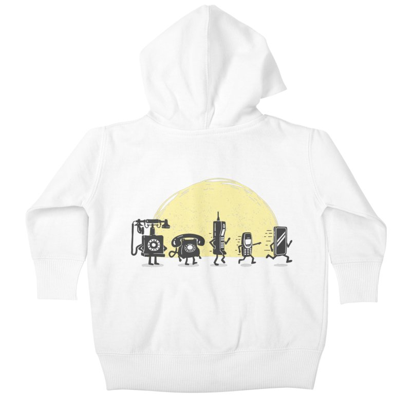The evolution of the mobile phone Kids Baby Zip-Up Hoody by Gamma-Ray Designs