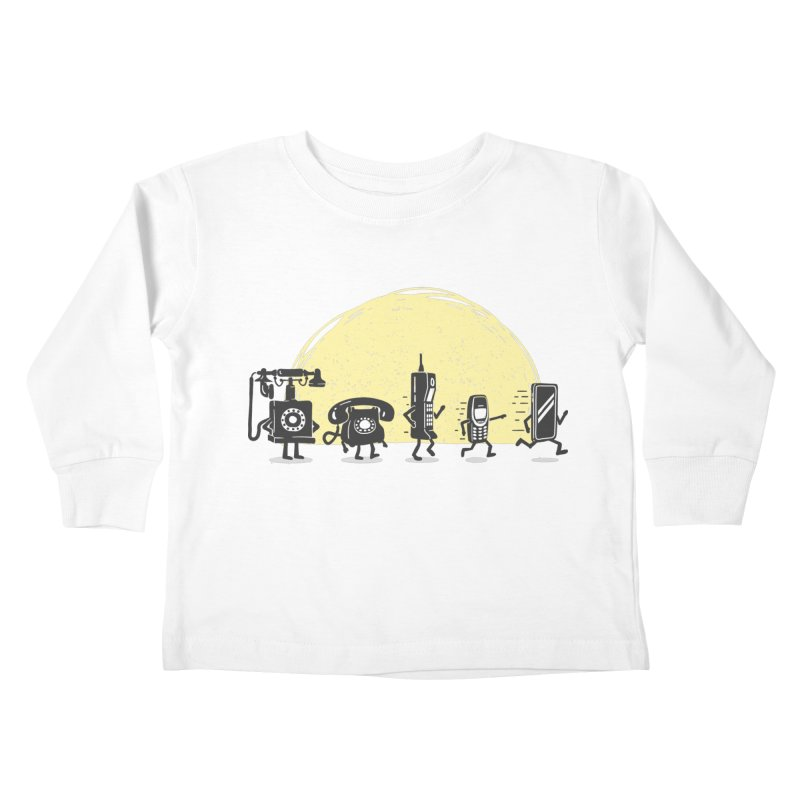The evolution of the mobile phone Kids Toddler Longsleeve T-Shirt by Gamma-Ray Designs