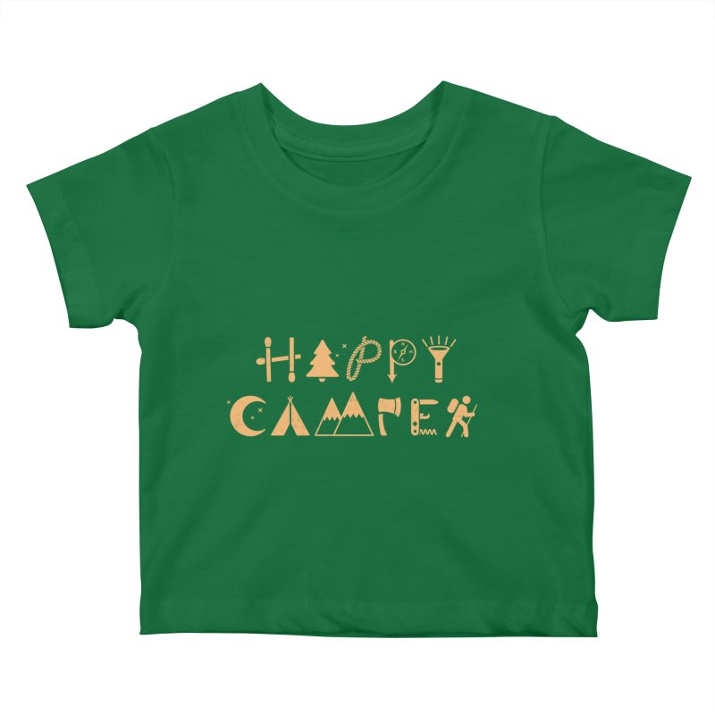 Happy Camper Kids Baby T-Shirt by Gamma-Ray's Artist Shop