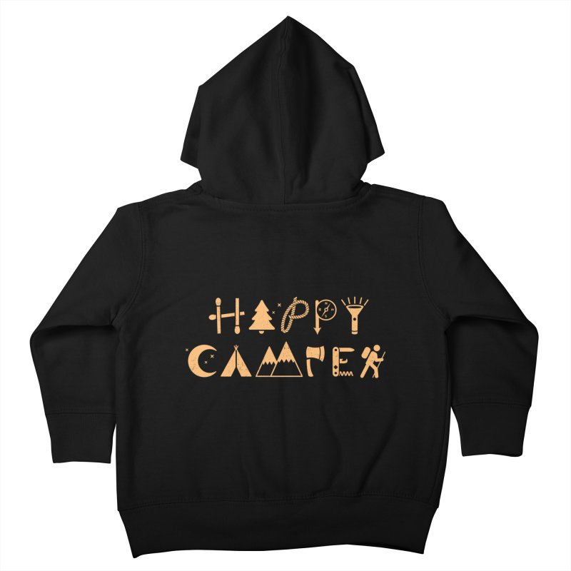 Happy Camper Kids Toddler Zip-Up Hoody by Gamma-Ray's Artist Shop