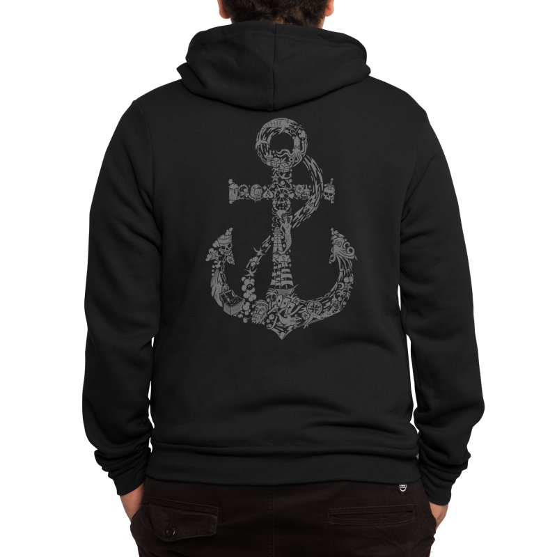 Whales, tales & ales Men's Zip-Up Hoody by Gamma-Ray Designs