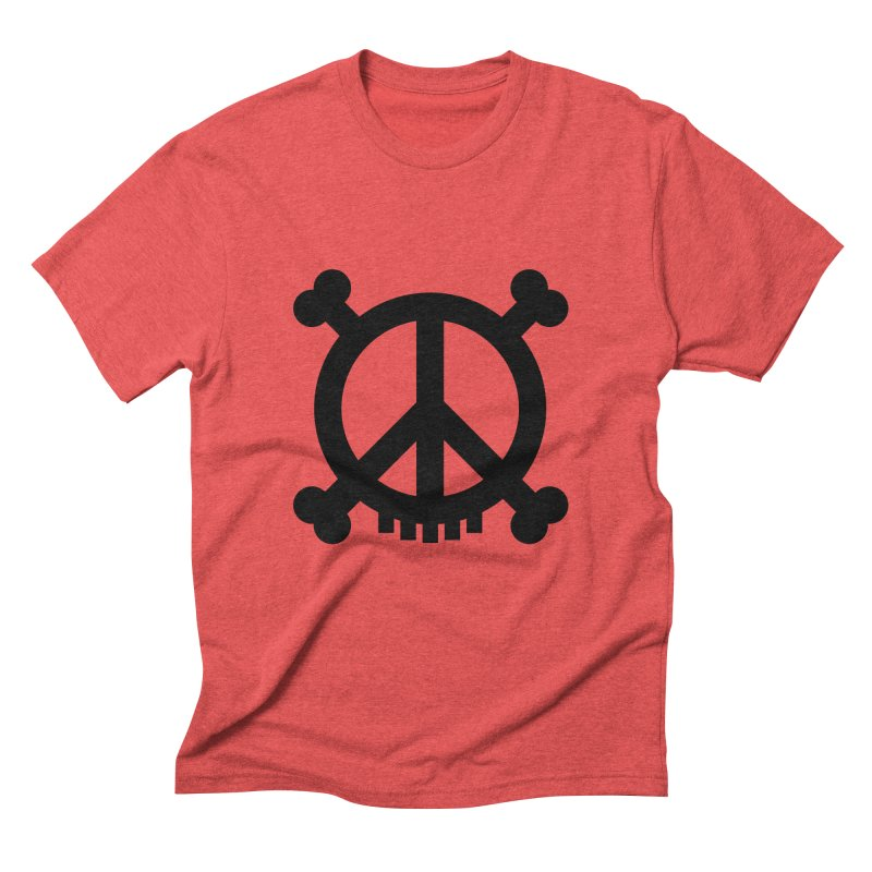 Peaceful Pirate : My Logo (black) Men's Triblend T-shirt by Stephen Petronis's Shop