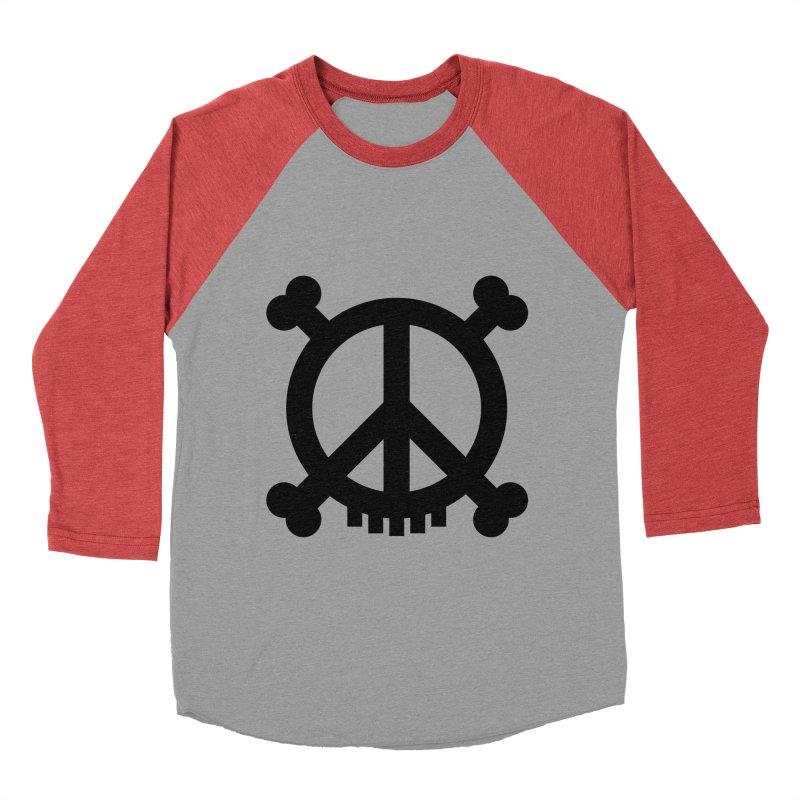 Peaceful Pirate : My Logo (black) Women's Baseball Triblend T-Shirt by Stephen Petronis's Shop