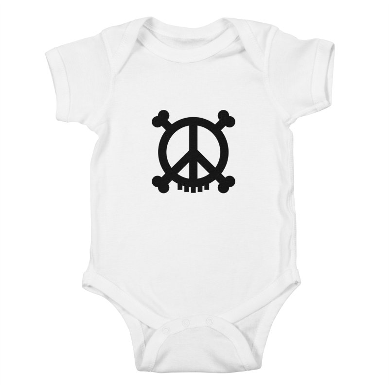 Peaceful Pirate : My Logo (black) Kids Baby Bodysuit by Stephen Petronis's Shop