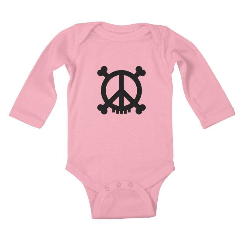 Peaceful Pirate : My Logo (black) Kids Baby Longsleeve Bodysuit by Stephen Petronis's Shop