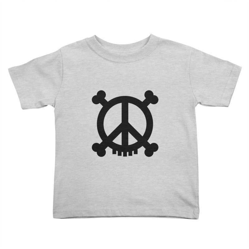 Peaceful Pirate : My Logo (black) Kids Toddler T-Shirt by Stephen Petronis's Shop