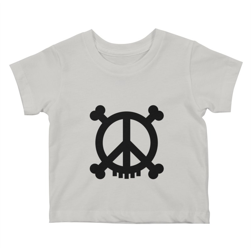 Peaceful Pirate : My Logo (black) Kids Baby T-Shirt by Stephen Petronis's Shop