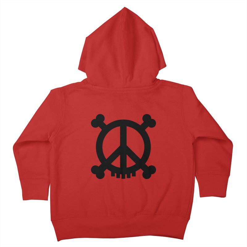 Peaceful Pirate : My Logo (black) Kids Toddler Zip-Up Hoody by Stephen Petronis's Shop