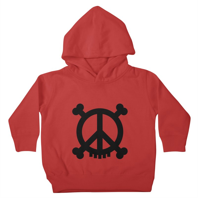 Peaceful Pirate : My Logo (black) Kids Toddler Pullover Hoody by Stephen Petronis's Shop
