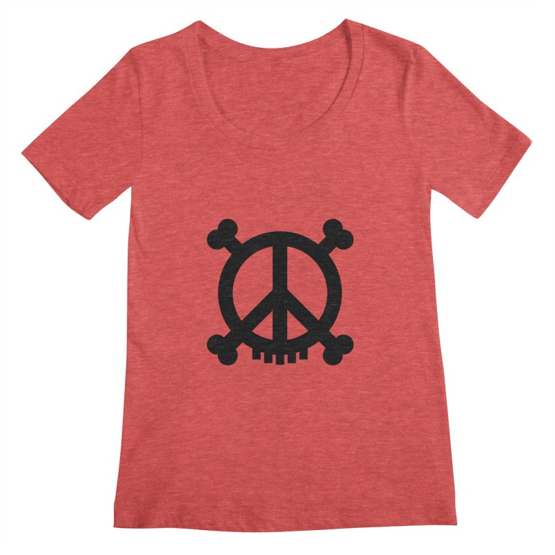 Peaceful Pirate : My Logo (black) Women's Scoopneck by Stephen Petronis's Shop
