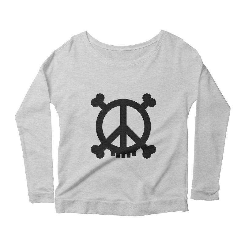 Peaceful Pirate : My Logo (black) Women's Longsleeve Scoopneck  by Stephen Petronis's Shop