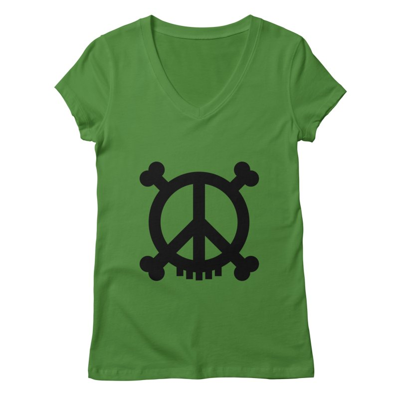 Peaceful Pirate : My Logo (black) Women's V-Neck by Stephen Petronis's Shop