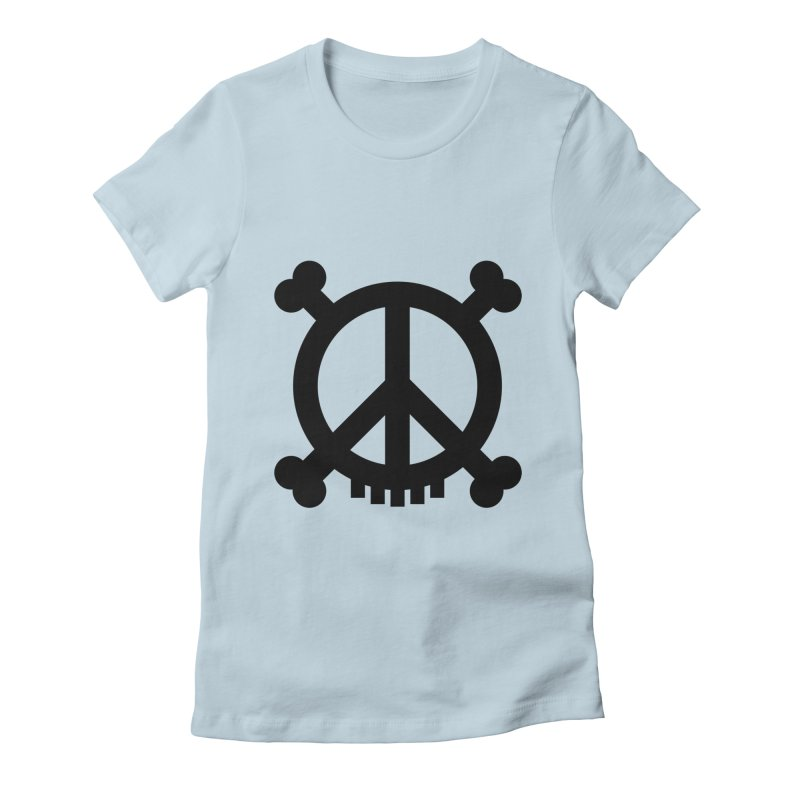 Peaceful Pirate : My Logo (black) Women's Fitted T-Shirt by Stephen Petronis's Shop
