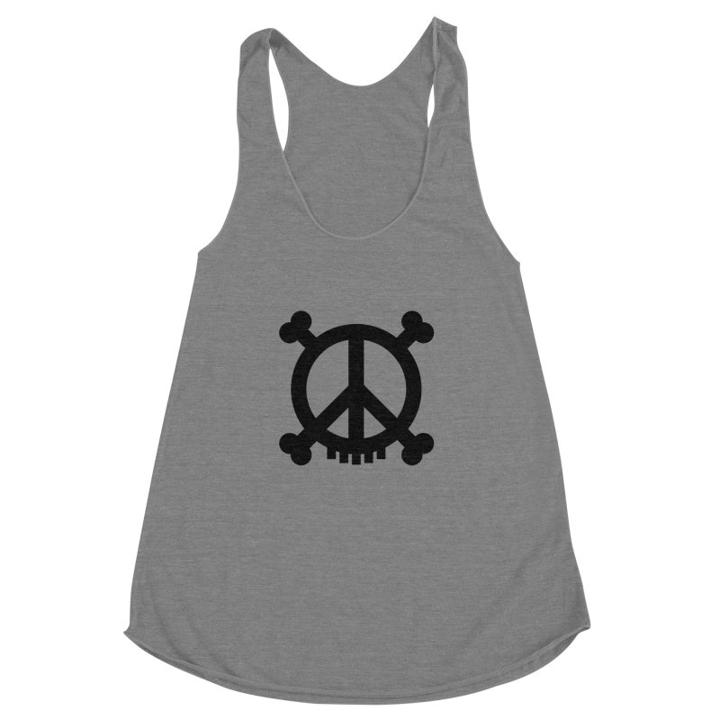 Peaceful Pirate : My Logo (black) Women's Racerback Triblend Tank by Stephen Petronis's Shop