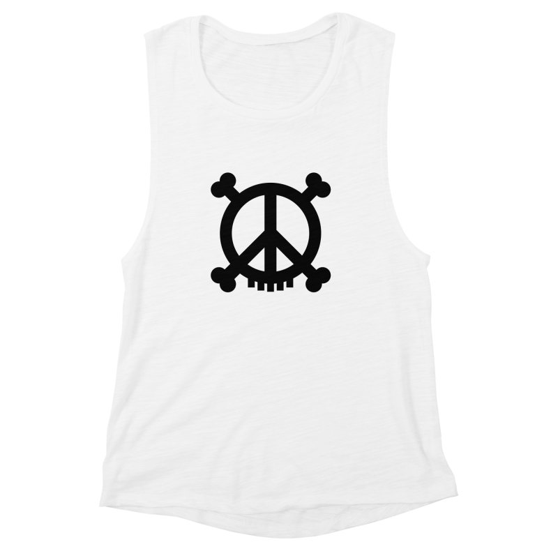 Peaceful Pirate : My Logo (black) Women's Muscle Tank by Stephen Petronis's Shop